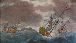 HMS Victory was lost in a storm in 1744