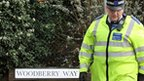 Officers in Woodberry Way in Chingford