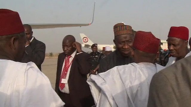 Jonathan arrives Kano