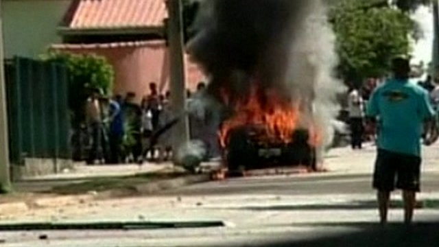 Car set alight