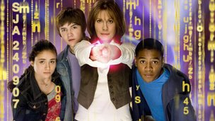 Elisabeth Sladen and cast of The Sarah Jane Adventures