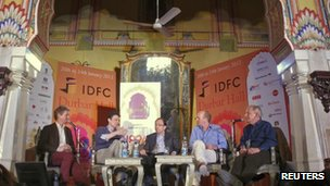 Media event at the Jaipur festival