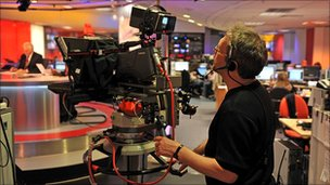 BBC TV studio
