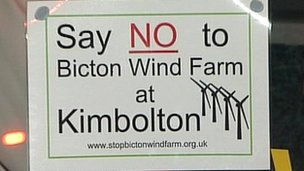Bicton wind farm campaign poster