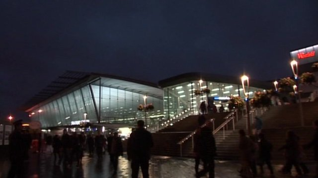Stratford station at night
