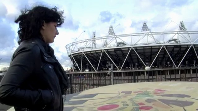 University of East London student at the Olympic Stadium