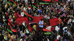 Benghazi residents celebrate as Libya is liberated
