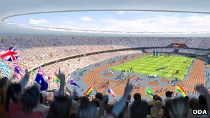Artist impression of Olympic Stadium