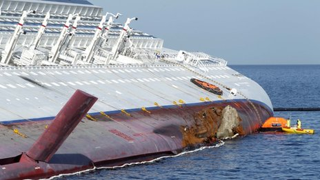 Fuel spill experts have been examining the wreck, which is carrying about 1.9m litres of fuel