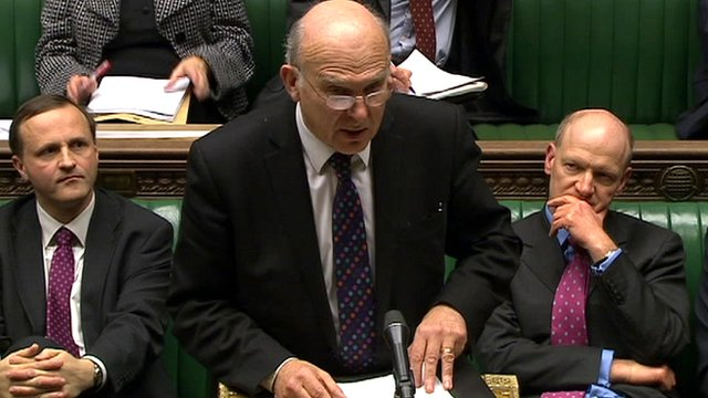 Business Secretary Vince Cable (centre)