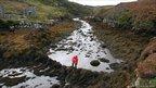Dr Alex Hale investigates a fish trap on South Uist. Pic: J Benjamin/WA Coastal and Marine