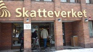 Entrance to Skatteverket, Sweden's tax authority