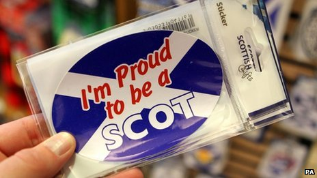 &#039;I&#039;m proud to be a Scot&#039; sticker