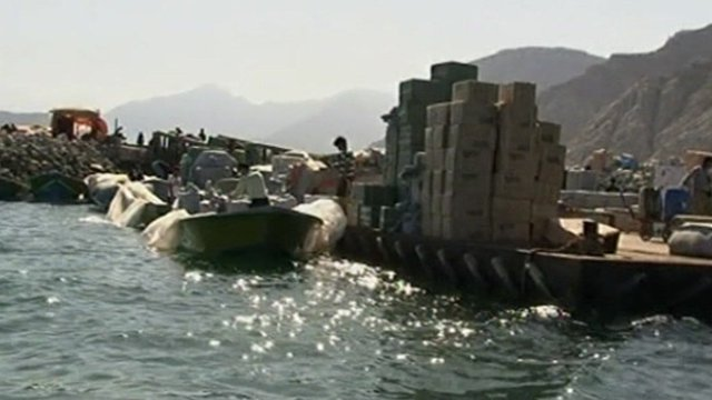 Shipment of illegal goods via the Hormuz strait.