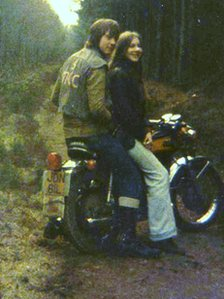 Mandy Huggins with her boyfriend