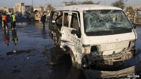 Aftermath of a bomb attack in Sadr City (24 January 2012)