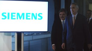 Siemens chief executive Peter Loescher