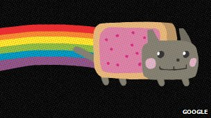 "The ""Nyan Cat"" as seen in Google video"