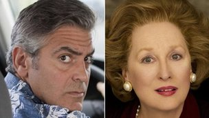 George Clooney and Meryl Streep