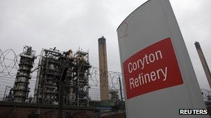 Coryton refinery. 