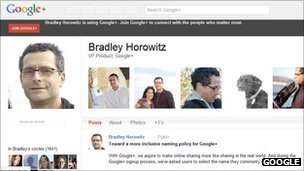 Bradley Horowitz&#039;s Google+ page