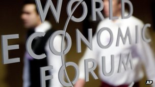 WEF logo in Davos