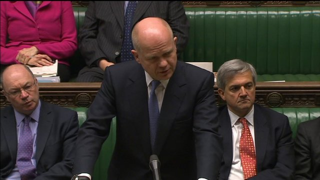 The UK Foreign secretary William Hague