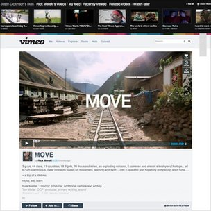A new look Vimeo video page