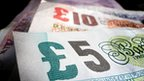 Various pound notes