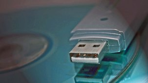USB stick and CD