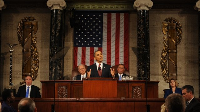 Barack Obama at podium