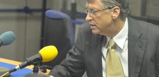 Bill Gates in the Today studio