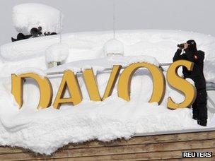 Davos sign