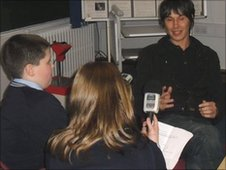 Professor Brian Cox is interviewed by the School Reporters from Saints Peter & Paul Catholic College