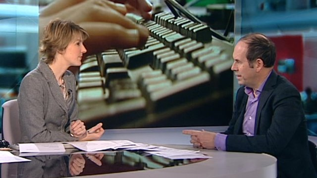 Rory Cellan-Jones on set