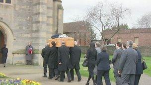 Denis Dunford's funeral