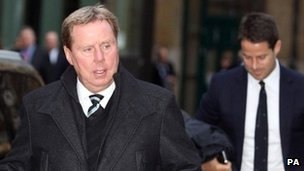 Harry Redknapp arriving at Southwark Crown Court with his son Jamie on 25 January