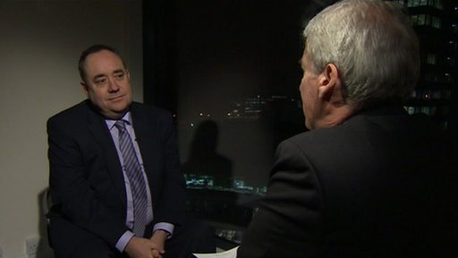 Scotland&amp;apos;s First Minister Alex Salmond with Jeremy Paxman