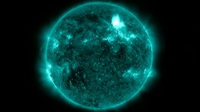 Solar flare image