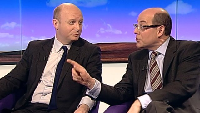 Liam Byrne and Nick Robinson