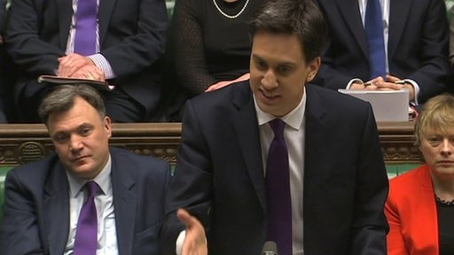 Ed Miliband at the despatch box
