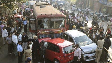 Crash scene in Pune, 25 Jan
