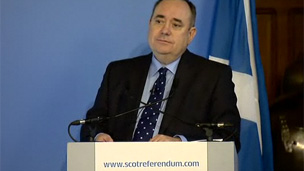 Alex Salmond at news conference