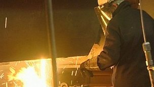 Steel worker at Thamesteel in Sheerness