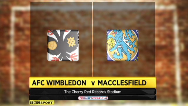 AFC Wimbledon 2-1 Macclesfield
