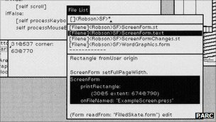 Screenshot of Smalltalk GUI