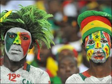 Senegal fans inside the Estadio de Bata