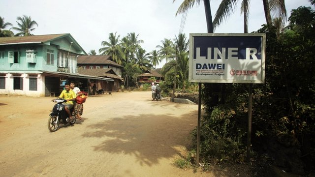Sign for Dawei project