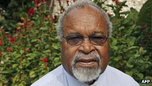File picture of Michael Somare in Port Moresby on 17 August 2007