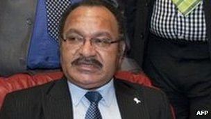 Peter O'Neill speaks at a press conference in Port Moresby on 15 December, 2011